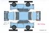 Trabant 601 Limousine Bastelkarte blau