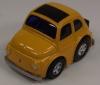 Fiat 500  mit Rückzugsantrieb gelb