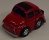 Fiat 500  mit Rückzugsantrieb rot