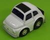 Fiat 500  mit Rückzugsantrieb weiß